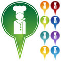 Marker Points - Chef Royalty Free Stock Photo