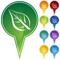 Marker Points - Leaf Royalty Free Stock Photo