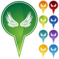 Marker Points - Wings Royalty Free Stock Photo