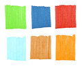 Marker strips mix of texture isolated Royalty Free Stock Images