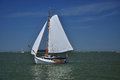 Markermeer holland saling boat sailing in the and ijmeer boats Royalty Free Stock Image