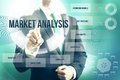Market analysis concept man selecting plan Royalty Free Stock Photo