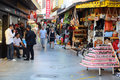 Market area in kusadasi tourists and local people the the town of turkey on the nd of october Stock Photo