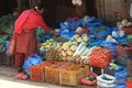 Market in bhaktapur a nepal Royalty Free Stock Image