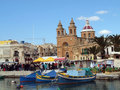 Market Day, Marsaxlokk in Malta Stock Photos
