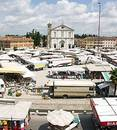 Market Day in Palmanova Italy Royalty Free Stock Photography
