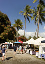 Market day in Port Douglas Royalty Free Stock Photo