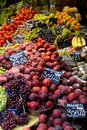 Market fresh fruit stall selling Royalty Free Stock Photo
