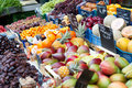 Market with fresh fruits Stock Photo