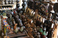 Market of handicrafts, Douala, Cameroun Royalty Free Stock Photo