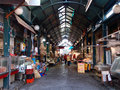 Market large food with many different shops in thessaloniki greece photograph taken on june Stock Photo