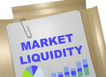 Market liquidity concept d illustration of title on business document Stock Photo