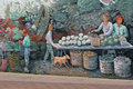 Market mural st lawrence in toronto canada Royalty Free Stock Images