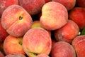 Market Peaches Royalty Free Stock Photo
