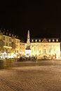 Market place in bonn germany at night the main square of the old town Royalty Free Stock Image