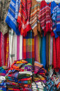 Market place in otavalo ecuador blankets ponchos and hammocks Stock Image