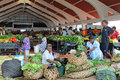 Market in port vila in vanuatu micronesia south pacific trade at the local Stock Photography