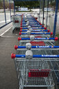 Market s trolleys in lecrercq market mulhouse france august Stock Photo