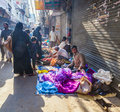Market scenario in delhi india oct people sell goods at the street at chawri bazar on oct india established it was the first Royalty Free Stock Photos