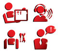 Market service vector icons set Royalty Free Stock Images