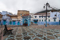 Market square in Chefchaouen Stock Photos