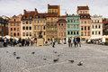 Market square in the Old town. Warsaw. Poland Stock Photos