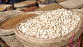 Market stall in arusha with different types of grains Stock Photo