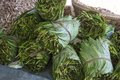 Market stall bagan myanmar selling betal leaf paan paan stimulating psychoactive preparation betel leaf combined areca nut cured Stock Image