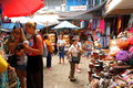 Market stall in bali indonesia Royalty Free Stock Photos