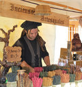 Market Stall Selling Incense Stock Photo