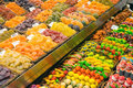 Market stall with sweets Royalty Free Stock Photo