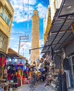 The market street mardin turkey january traditional arabic runs through narrow streets and leads to grand mosque on january in Stock Image