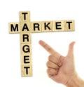 Market target Royalty Free Stock Photo