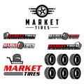 Market tires logo vector Royalty Free Stock Photo