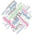 Marketing agency services or graphic designer job. Royalty Free Stock Photo