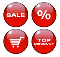 Marketing buttons Royalty Free Stock Photo