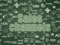 Marketing concept: Sales Channels on School board background Royalty Free Stock Photo