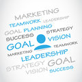 Marketing goal planning teamwork abstract background Royalty Free Stock Photography