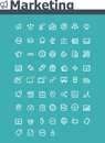 Marketing icon set Royalty Free Stock Photography