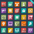 Marketing icons set of flat Royalty Free Stock Photography