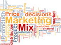 Marketing mix background concept Stock Images