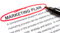 Marketing plan explanation with heading circled in red Royalty Free Stock Photography
