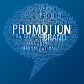 Marketing promotion speech bubble Royalty Free Stock Photos