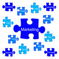 Marketing puzzle Royalty Free Stock Photography