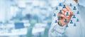 Marketing segmentation and leader Royalty Free Stock Photo