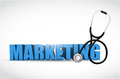 Marketing and stethoscope illustration design over a white background Royalty Free Stock Image