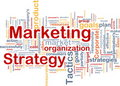Marketing strategy word cloud Stock Photo