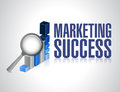 Marketing success graph investigation and exploration illustration design Royalty Free Stock Photo