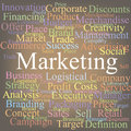 Marketing tag cloud color abstraction Stock Image