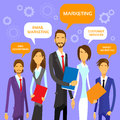 Marketing team concept business people group flat vector illustration Stock Images